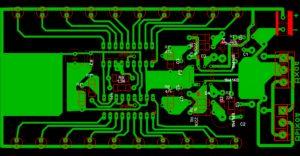 Печатная плата индикатора уровня сигнала LM3915