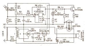 Схема простого фотореле на 600 Вт