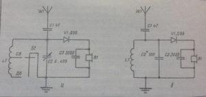 Схема простейшего детекторного радио приемника