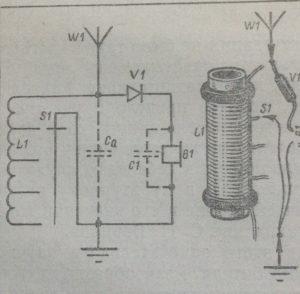 Схема детекторного радиоприемника