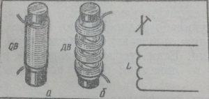 Пример катушек для детекторного радиоприемника