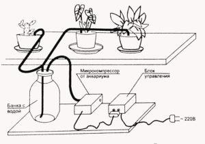 Состав автоматического полива цветов