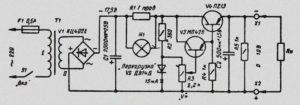 Схема стабилизатора на транзисторах с регулировкой напряжения