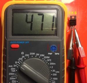 проверка работоспособности транзистора