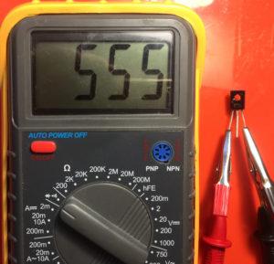 Фото проверки транзистора на работоспособность
