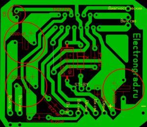 печатная плата простого усилителя 2.1 на TDA7379