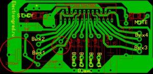 печатная плата четырехканального усилителя на TDA7388, TDA7560
