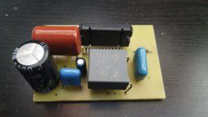 Пример собранной печатной платы TDA7388
