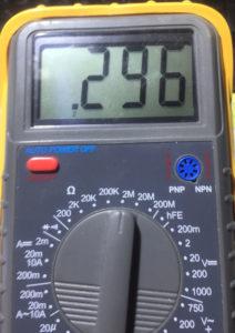 Пример измерения сопротивления конденсатора