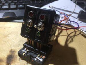 внешний вид готового самодельного переключателя подогрева сидений Lancer 9